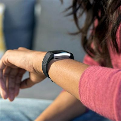 Fitbit Alta HR and Alta Large Classic Accessory Band - Black -  Lifestyle