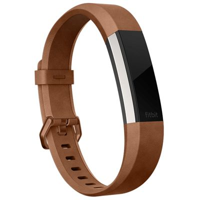 Fitbit Alta HR and Alta Large Leather Accessory Band - Angled