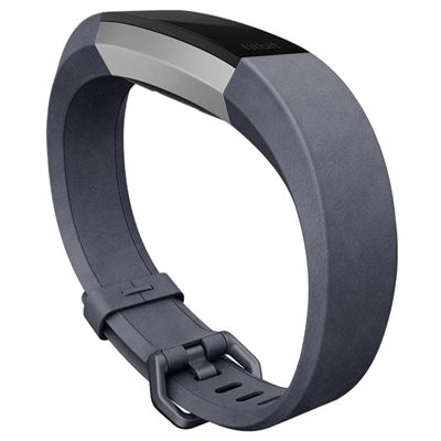 Fitbit Alta HR and Alta Large Leather Accessory Band - Indigo - Side