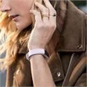 Fitbit Alta HR and Alta Large Leather Accessory Band - Lavender - Lifestyle