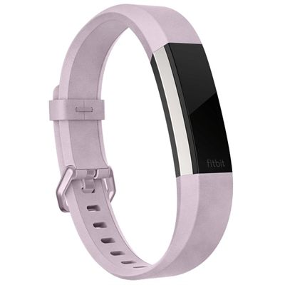 Fitbit Alta HR and Alta Large Leather Accessory Band - Lavender Angled