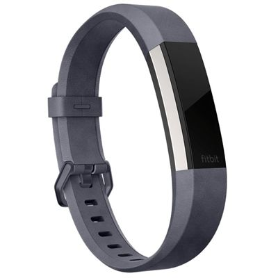 Fitbit Alta HR and Alta Large Leather Accessory Band - Indigo - Angled