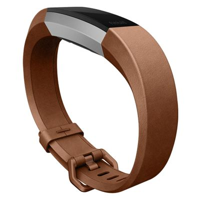 Fitbit Alta HR and Alta Large Leather Accessory Band - Lifestyle - SIde
