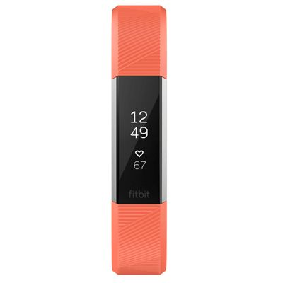 Fitbit Alta HR Large Fitness Tracker with Heart Rate Sensor - Coral - Front