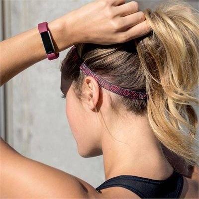 Fitbit Alta HR Large Fitness Tracker with Heart Rate Sensor - Fuchsia - LIfestyle