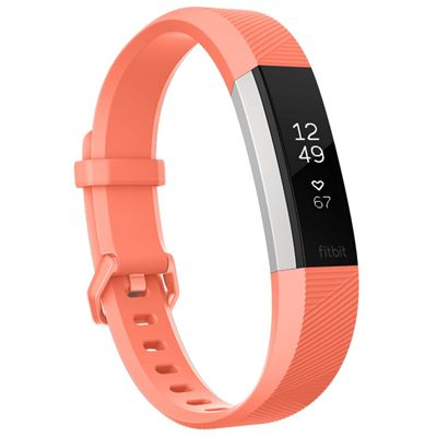 Fitbit Alta HR Large Fitness Tracker with Heart Rate Sensor - Coral