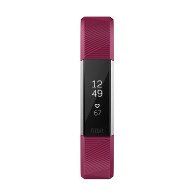 Fitbit Alta HR Small Fitness Tracker with Heart Rate Sensor - Fuchsia - Front