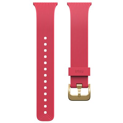 Fitbit Blaze Gold-Plated Large Slim Accessory Band - Pink - Strap