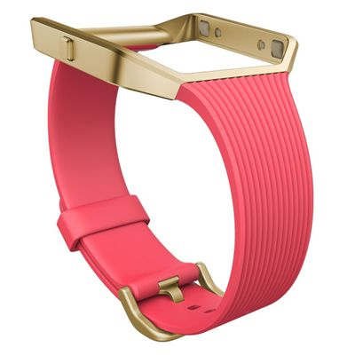 Fitbit Blaze Gold-Plated Large Slim Accessory Band - Pink