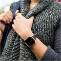 Fitbit Blaze Gold-Plated Small Slim Accessory Band - Black - Lifestyle