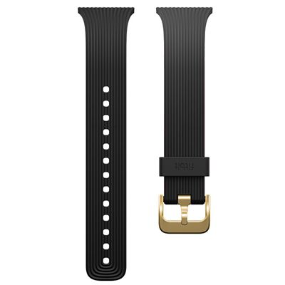 Fitbit Blaze Gold-Plated Small Slim Accessory Band - Black - Strap