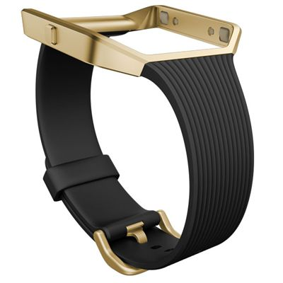 Fitbit Blaze Gold-Plated Small Slim Accessory Band - Black