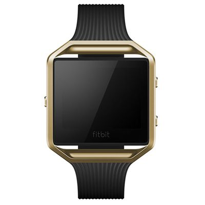 Fitbit Blaze Metal Link Accessory Band - Black - Front