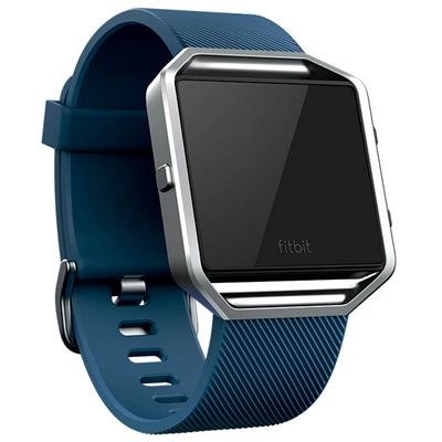 Fitbit Blaze Large Classic Accessory Band - Blue - Angled