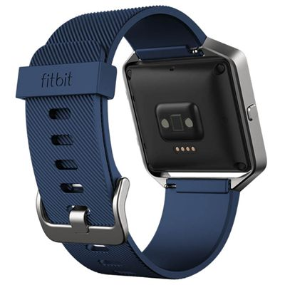 Fitbit Blaze Large Classic Accessory Band - Blue - Back