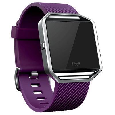 Fitbit Blaze Large Classic Accessory Band - Plum - Angled