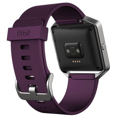 Fitbit Blaze Large Classic Accessory Band - Plum - Back