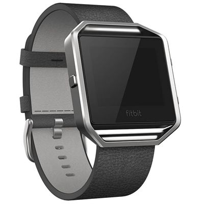 Fitbit Blaze Large Leather Accessory Band - Angled