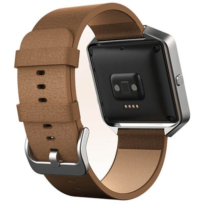 Fitbit Blaze Large Leather Accessory Band - Brown - Back