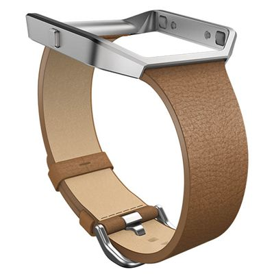 Fitbit Blaze Large Leather Accessory Band - Brown