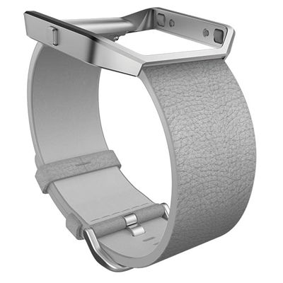 Fitbit Blaze Large Leather Accessory Band  - Grey