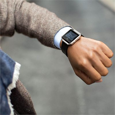 Fitbit Blaze Large Leather Accessory Band - Lifestyle