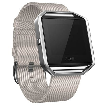 Fitbit Blaze Large Nylon Accessory Band - Grey - Angled