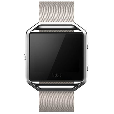 Fitbit Blaze Large Nylon Accessory Band - Grey - Front