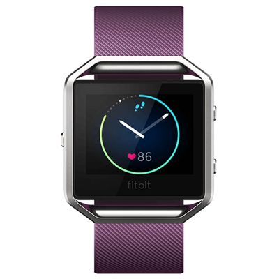Fitbit Blaze Large Smart Fitness Watch with Heart Rate Sensor - Plum - Front