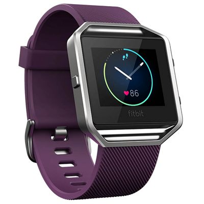 Fitbit Blaze Large Smart Fitness Watch with Heart Rate Sensor - Plum