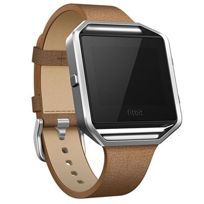 Fitbit Blaze Slim Leather Accessory Band - Angled