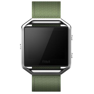 Fitbit Blaze Large Nylon Accessory Band - Green - Front