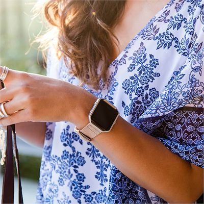 Fitbit Blaze Small Nylon Accessory Band - Angled - Lifestyle