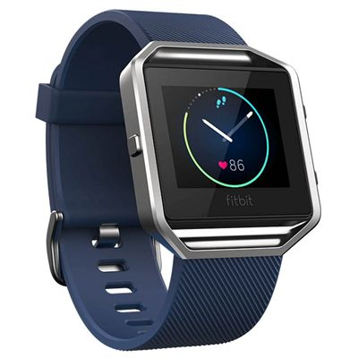 Fitbit Blaze Small Smart Fitness Watch with Heart Rate Sensor - Blue - Front