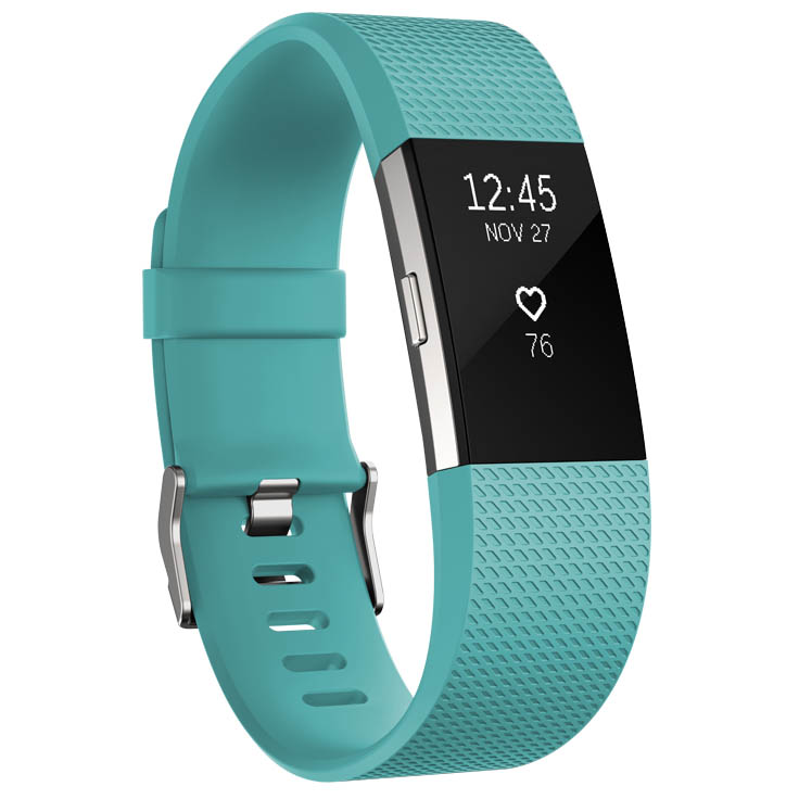 Fitbit Charge 2 Large Fitness Tracker with Heart Rate Sensor – Aqua