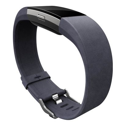 Fitbit Charge 2 Large Leather Accessory Band - Indigo - Side