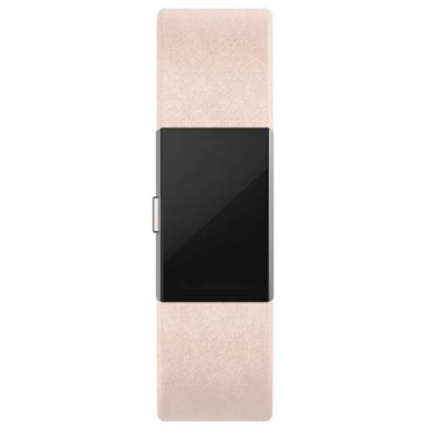 Fitbit Charge 2 Large Leather Accessory Band - Pink - Lifestyle - Front