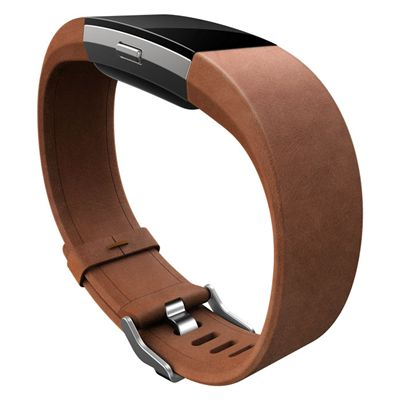Fitbit Charge 2 Large Leather Accessory Band - Side