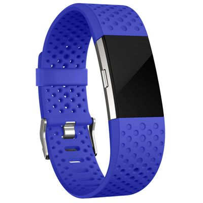 Fitbit Charge 2 Large Sport Accessory Band - Blue - In Use1