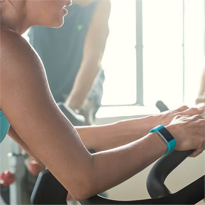 Fitbit Charge 2 Large Fitness Tracker with Heart Rate Sensor - Aqua - Lifestyle