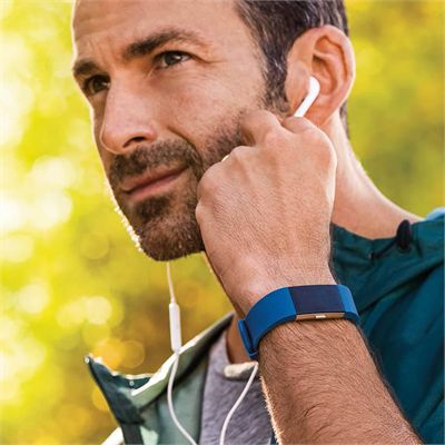 Fitbit Charge 2 Small Fitness Tracker with Heart Rate Sensor - Blue - Lifestyle