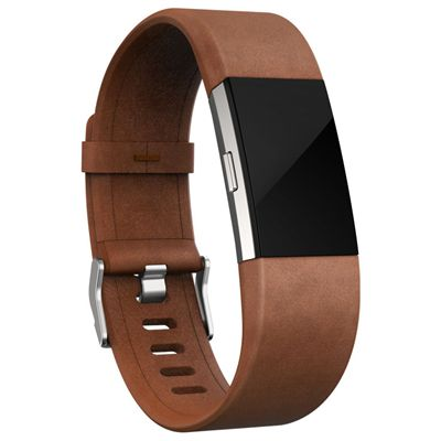 Fitbit Charge 2 Small Leather Accessory Band - Angled