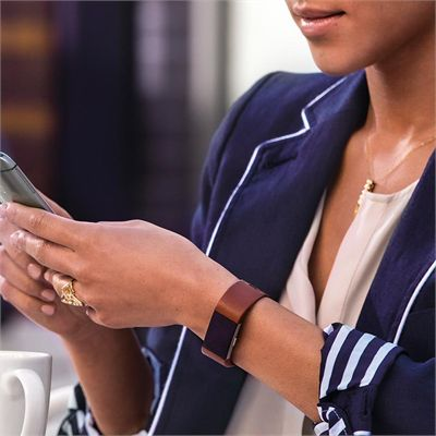 Fitbit Charge 2 Small Leather Accessory Band - Lifestyle