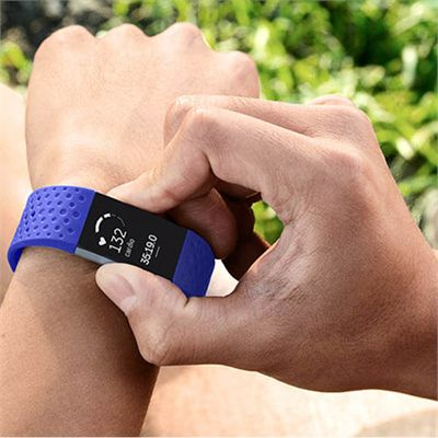 Fitbit Charge 2 Small Sport Accessory Band - Blue - Lifestyle
