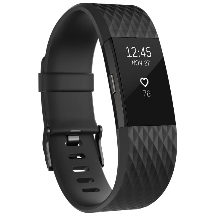 Fitbit Charge 2 Special Edition Large Fitness Tracker with HR - Black