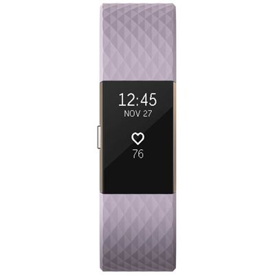 Fitbit Charge 2 Special Edition Large Fitness Tracker with HR - Purple - Front