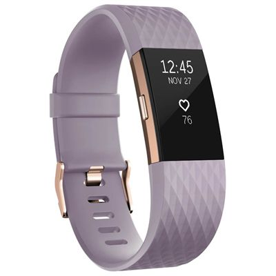 Fitbit Charge 2 Special Edition Large Fitness Tracker with HR - Purple