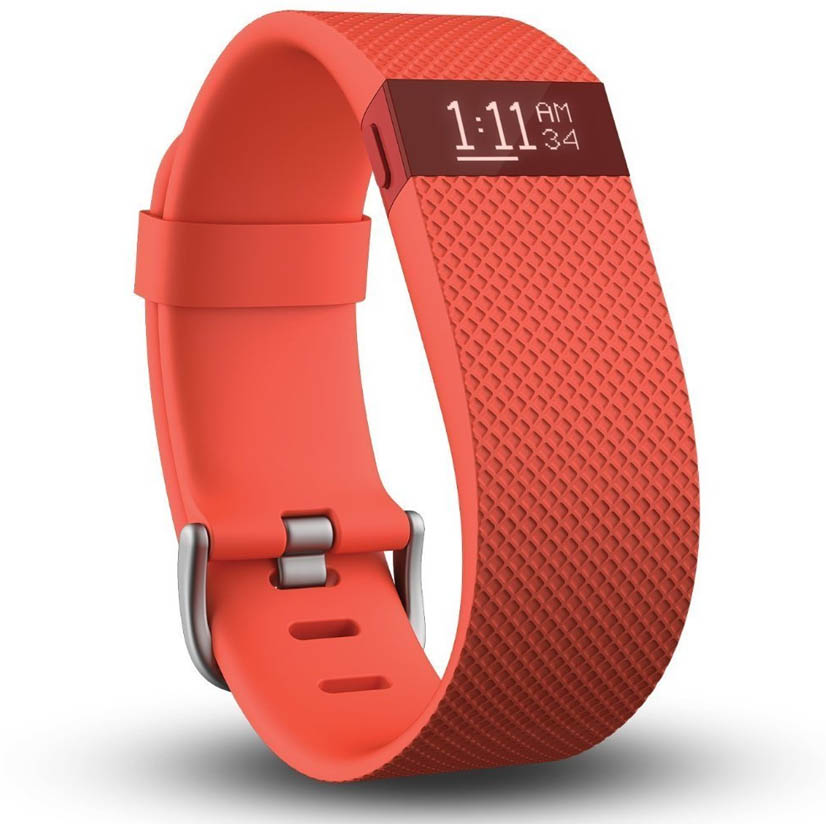 Fitbit Charge Heart Rate Monitor and Activity Tracker  Orange Large