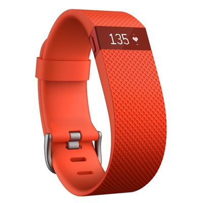 Fitbit Charge Heart Rate Monitor and Activity Tracker - Orange - Pulse