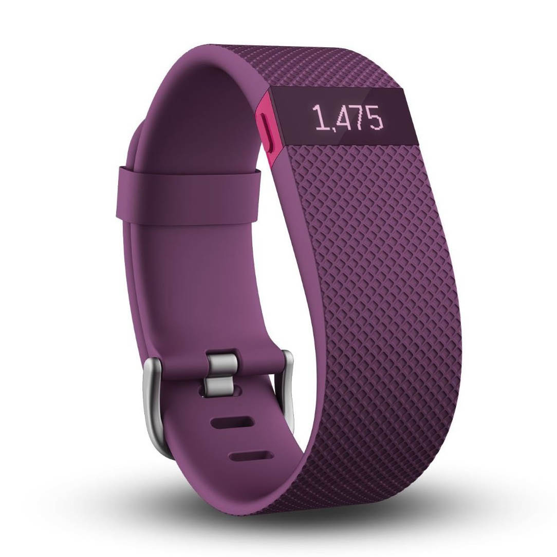 Fitbit Charge Heart Rate Monitor and Activity Tracker  Purple Large